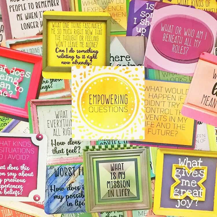 empowering question cards